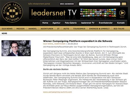 Wiener Campaigning Plattform expandiert in die Schweiz