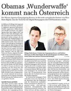 """Obamas """"Wunderwaffe"""" kommt nach Österreich"""