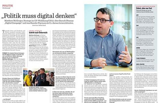 """""""Politik muss man digital denken"""""""