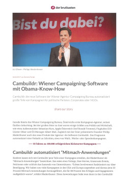 Cambuildr: Wiener Campaigning-Software mit Obama-Know-How