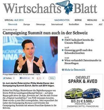 Campaigning Summit nun auch in der Schweiz